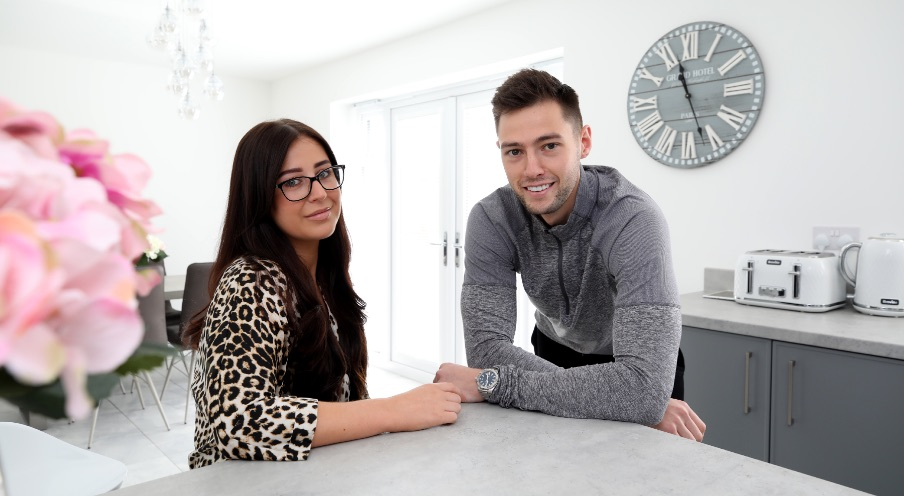 Abigail Watson and Jamie Sanderson, first-time buyers at Ingleby Manor