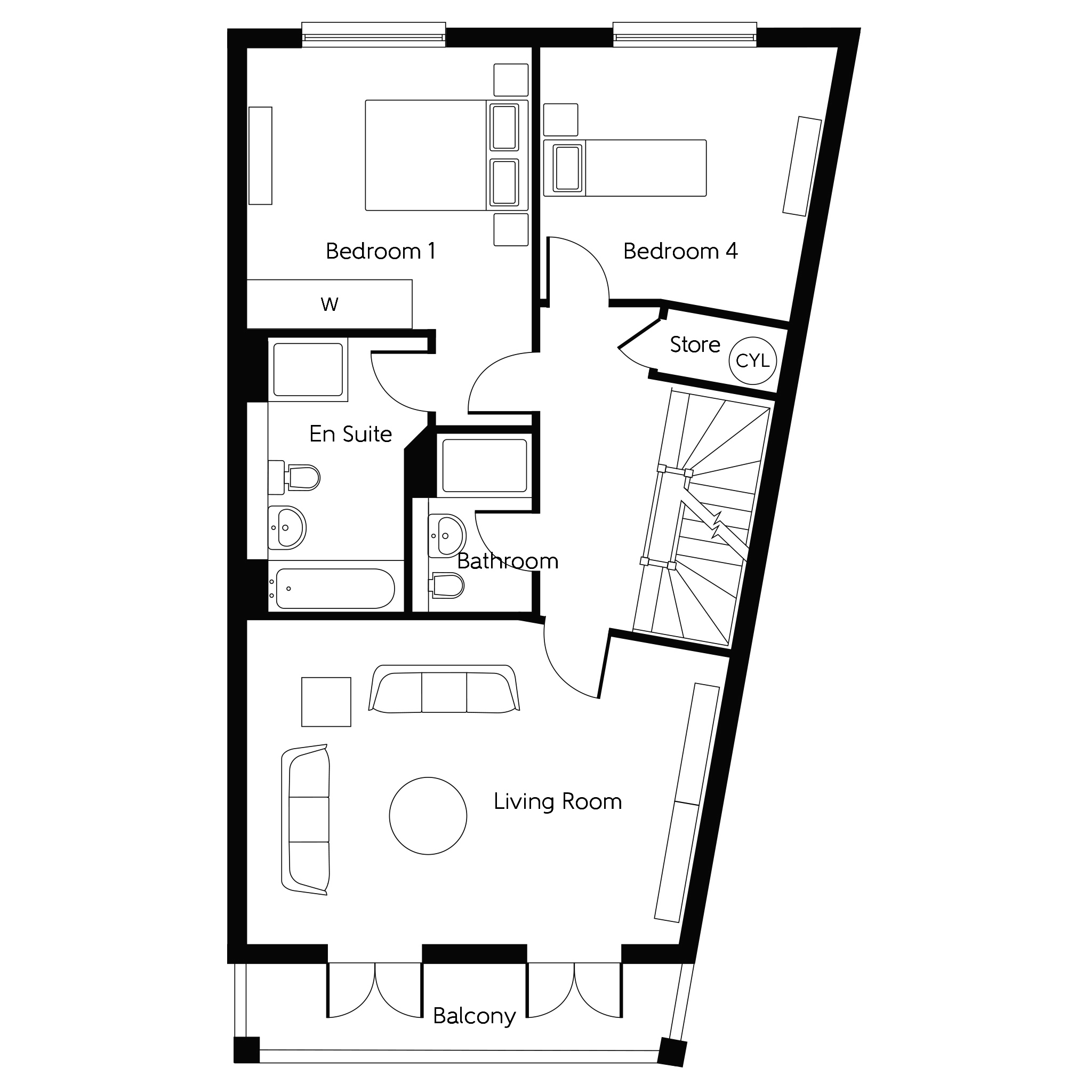 New 3 Storey Town House End Home In Wokingham Berkshire