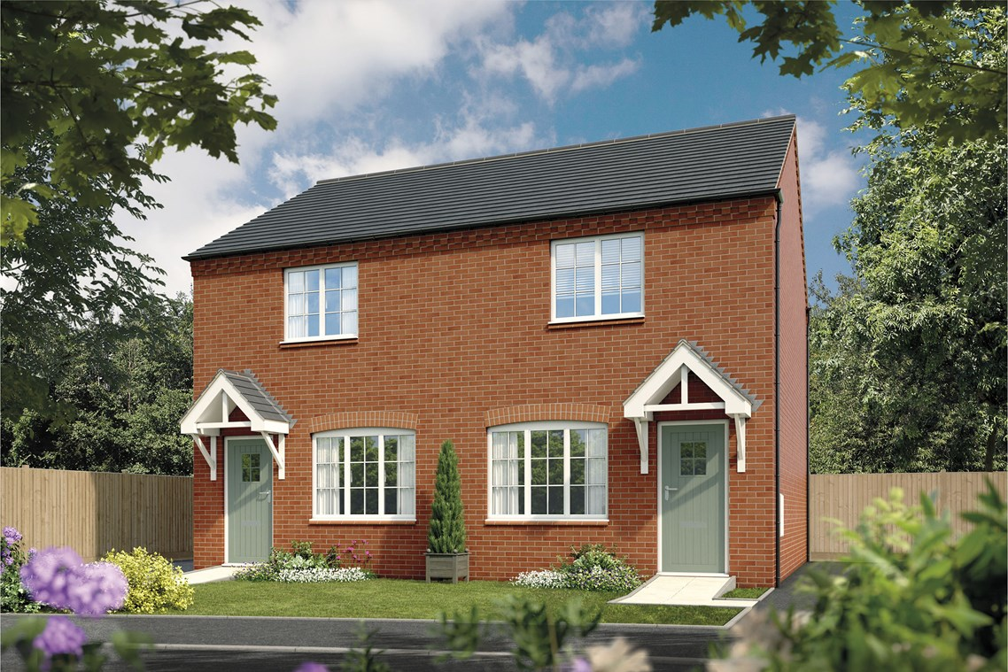 New End Terrace Home In Lichfield Staffordshire From Bellway Homes