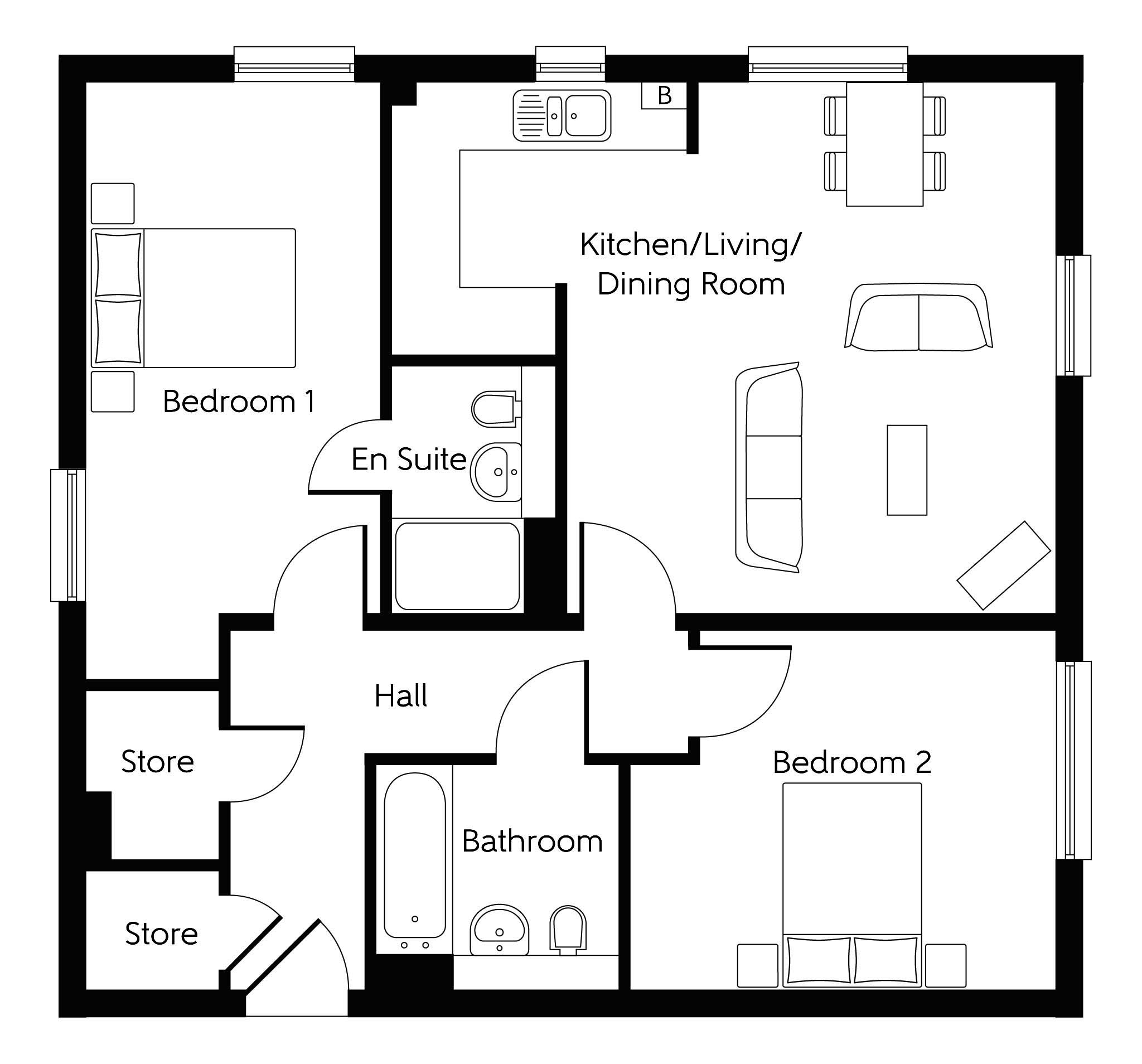 New Apartment In Faversham, Kent From Bellway Homes