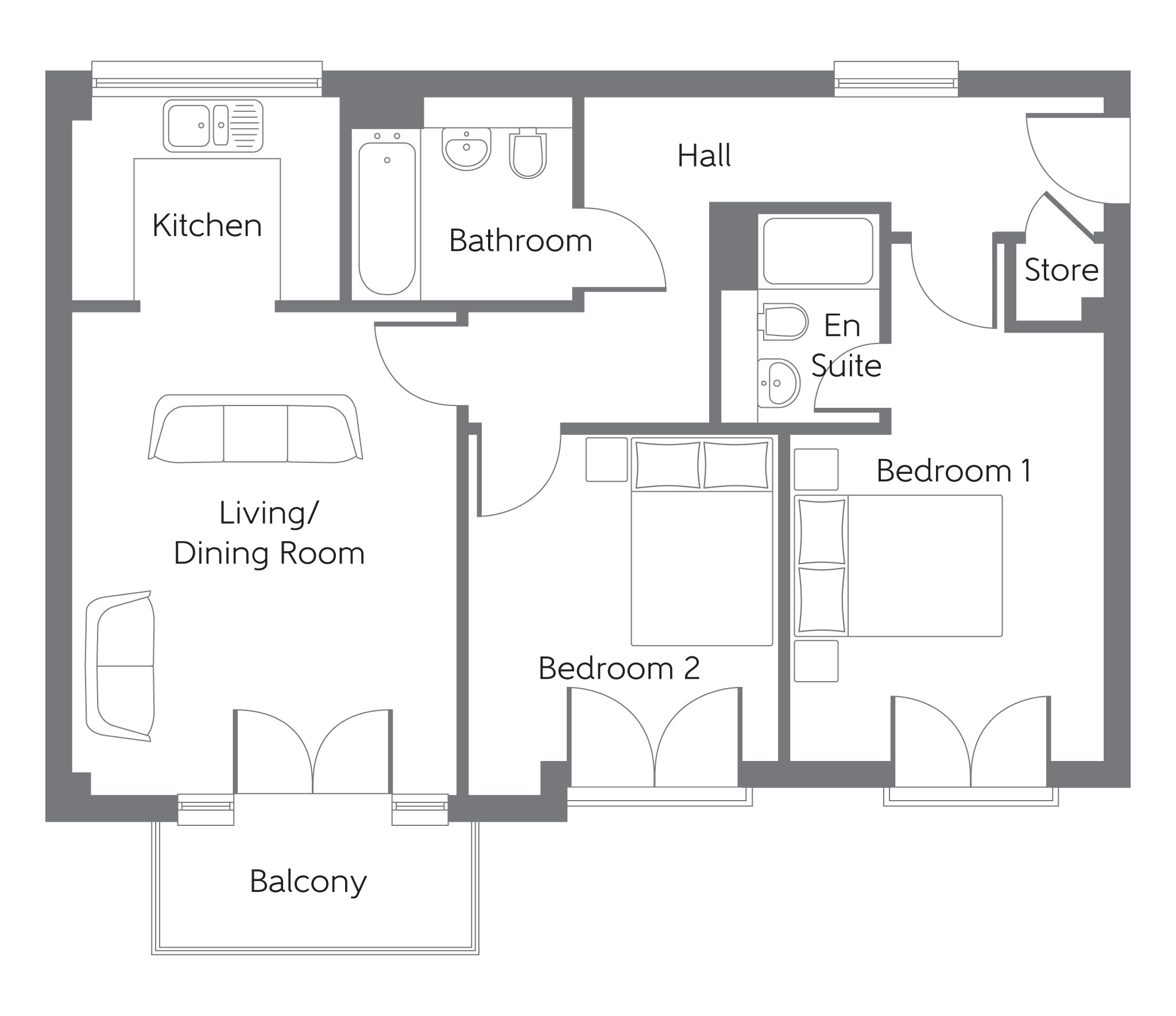New Apartment In Wouldham, Kent From Bellway Homes