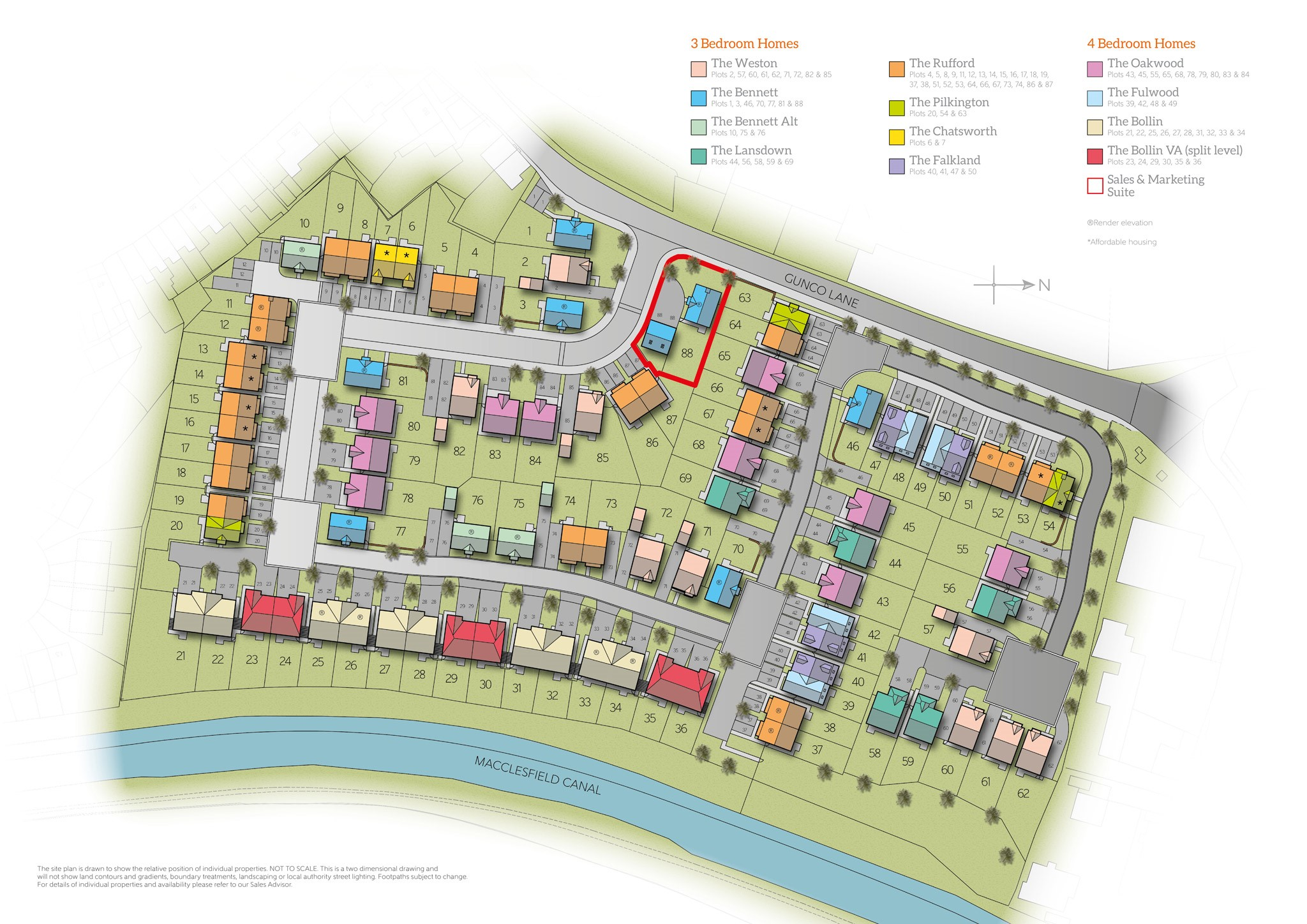 New Detached Home In Macclesfield Cheshire From Bellway Homes Weston Wiring Diagram Siteplan Of Waterways 1831